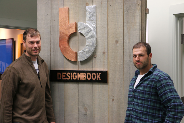 Kyle Clark (left) and Aaron Pollak, co-founders of Designbook.