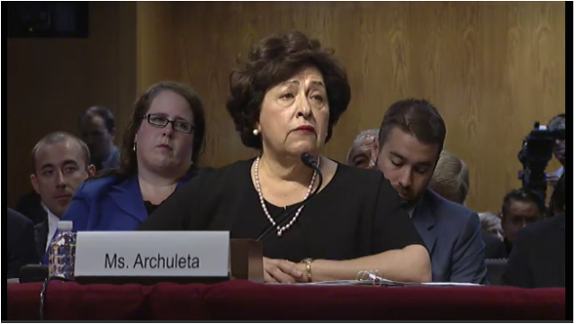 "Archuleta told the Senate Appropriations Committee, ""we would have never found the breach"" if it weren't for her efforts to drive security improvements."
