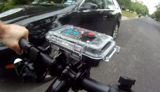 Police use ultrasonic device to make sure drivers stay 3 feet from cyclists