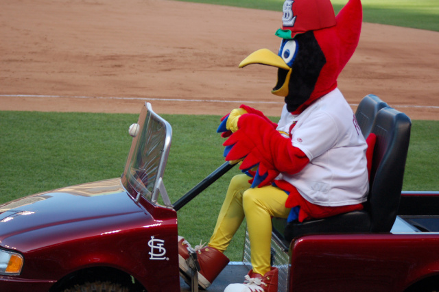 Cardinals official escaping the scene of the crime.