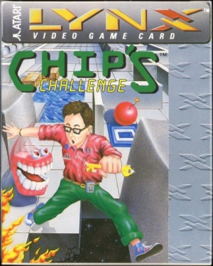 Box art for the original Lynx version of <i>Chip's Challenge.</i>