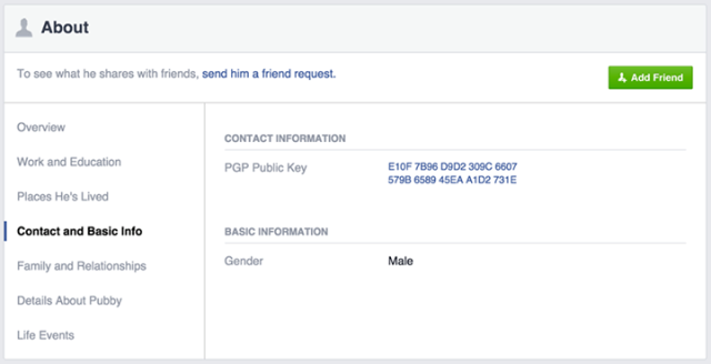 Facebook users can now add OpenPGP keys for improved e-mail security