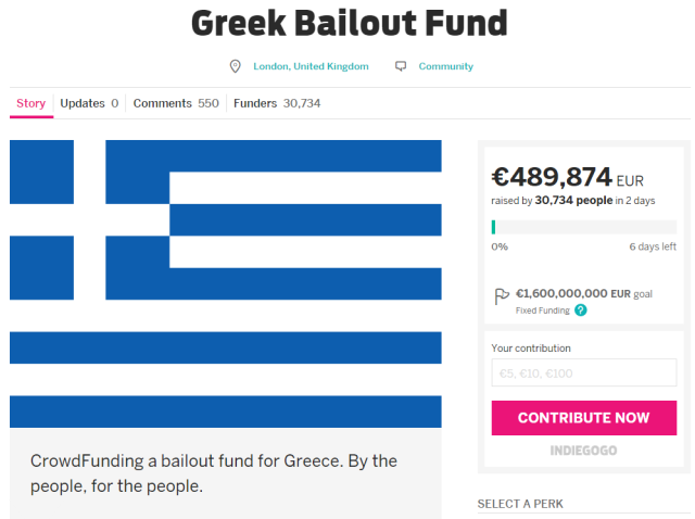 As Greece falls in arrears, one man wants to crowdfund €1.6 billion payment