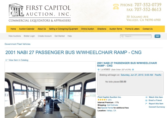 Transit startup Leap puts 3 buses up for auction, coffee bar included