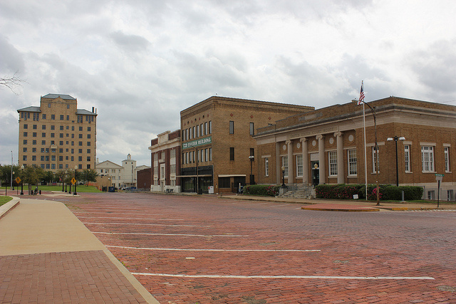 Federal courthouse and nearby buildings in Marshall, Texas.