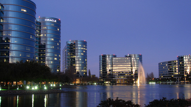 Oracle headquarters in Redwood Shores, California.