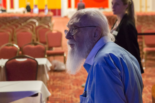 Noted skeptic James Randi, prior to the test.
