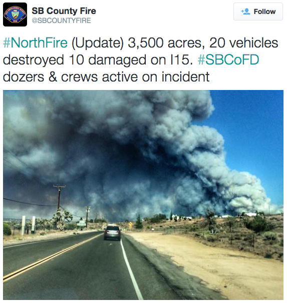 Drones ground helicopters fighting fire that burned across CA highway