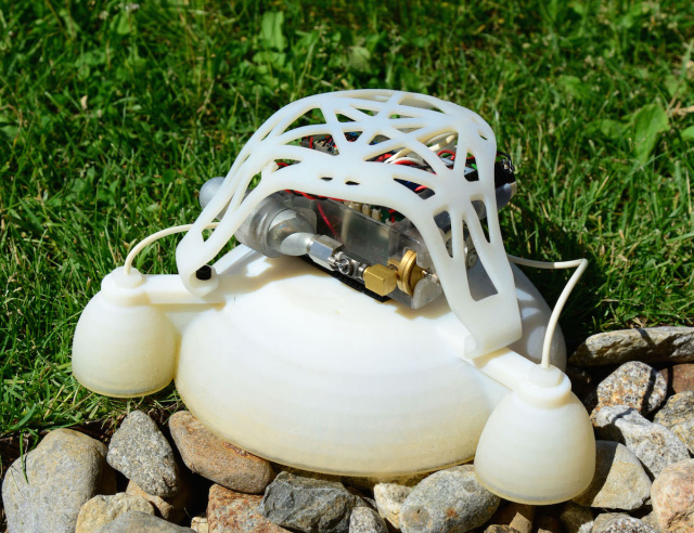 We have liftoff! 3D-printed, soft-bodied robot makes explosive jumps