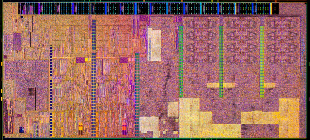 The Broadwell die, built on Intel's troublesome 14nm process.