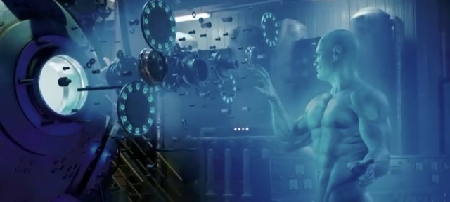Dr. Manhattan manipulates this reactor's components in exploded view. GE is trying to do something similar with an augmented reality maintenance manual.