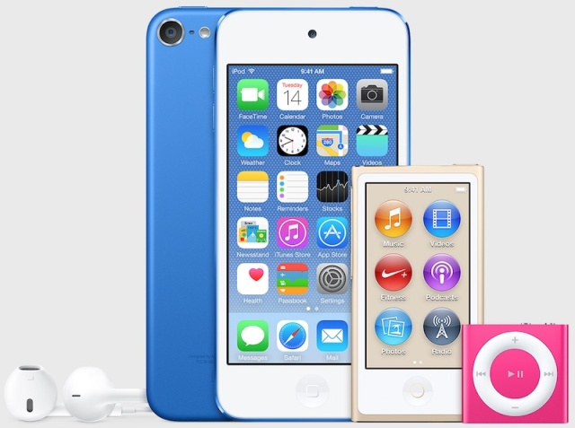 iPod Touch renders with new colors and no camera loop were found in Tuesday's iTunes 12.2 releases, suggesting that one of the last 32-bit iDevices could be up for replacement soon.