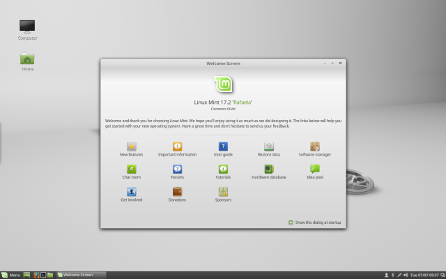 Cinnamon 2.6 in Linux Mint 17.2.