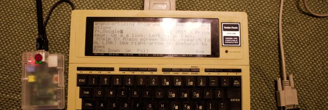 Surfing the Internet… from my TRS-80 Model 100 | Ars Technica