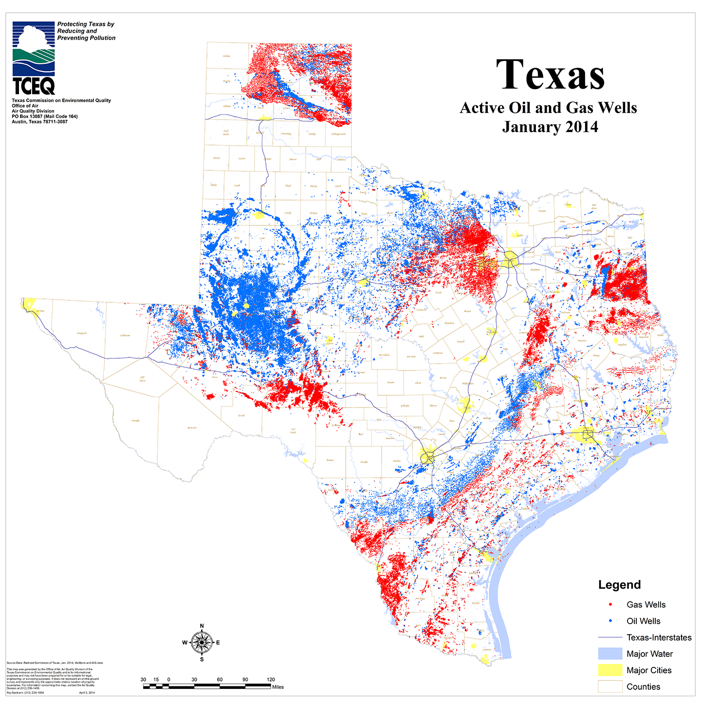 Texas Oil Shale Map