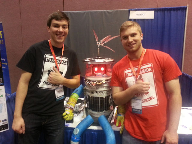 The HitchBOT, in happier times, as seen in September 2014.