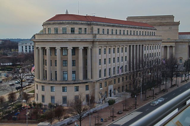 View of the Federal Trade Commission from the Newseum.