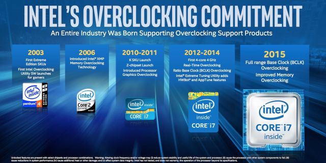 """Intel's overclocking commitment"" will soon include laptops."