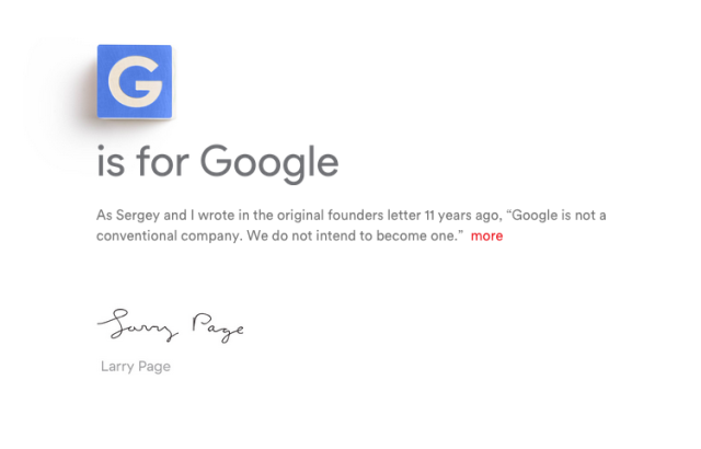 "Google is now part of ""Alphabet,"" Sundar Pichai steps up as CEO [Updated]"