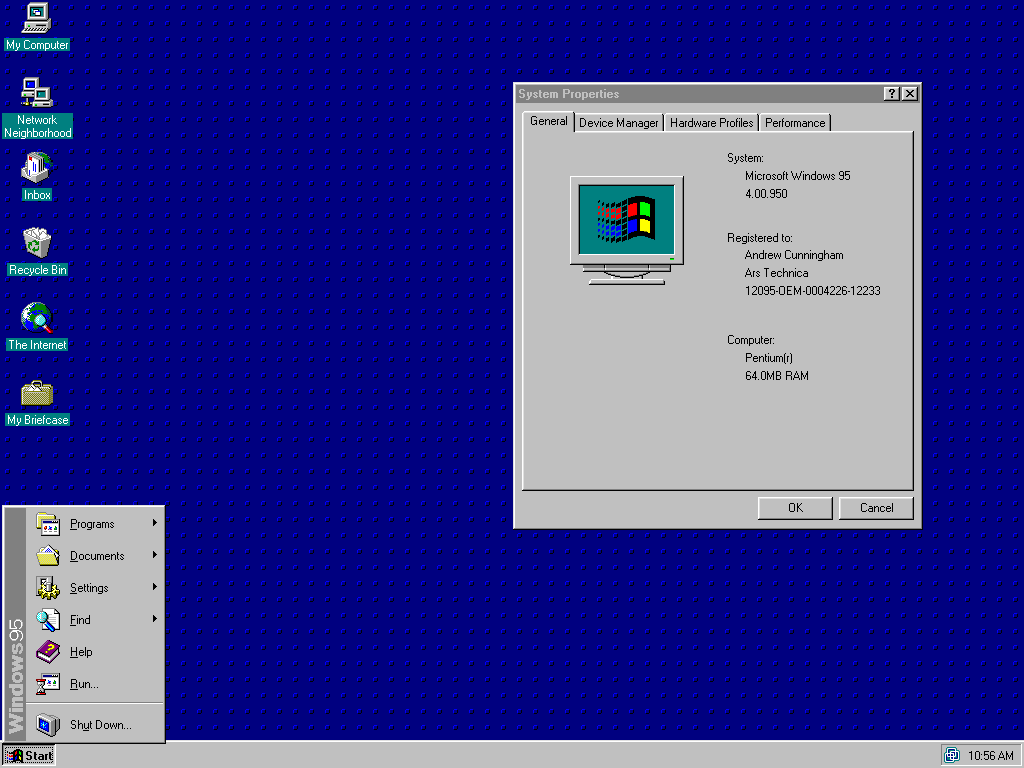 Windows 95 turns 20, and Ars reminisces on a simpler age