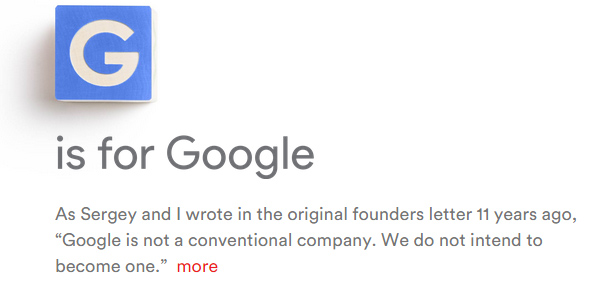 F is for Flexibility: Analyzing Google's transition to Alphabet