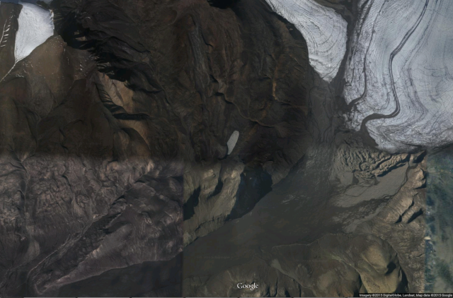 Satellite view of the study area on Axel Heiberg Island.