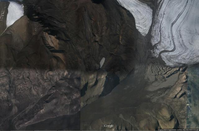 Satellite view of the study area on Axel Heiberg Island.