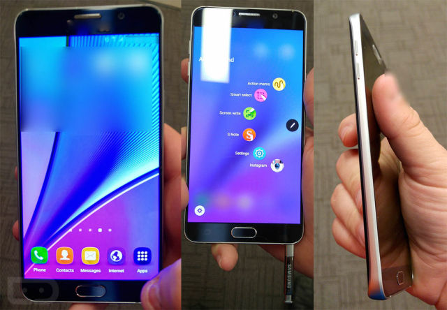 Galaxy Note 5 leak shows glass back, fixed battery, and no microSD slot