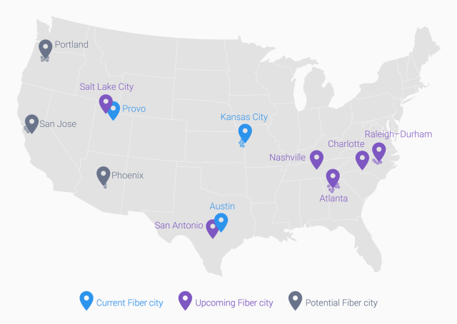 Google Fiber plans service in San Antonio, its biggest city yet