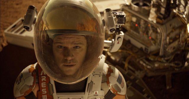 Matt Damon as astronaut Mark Watney—the eponymous Martian.