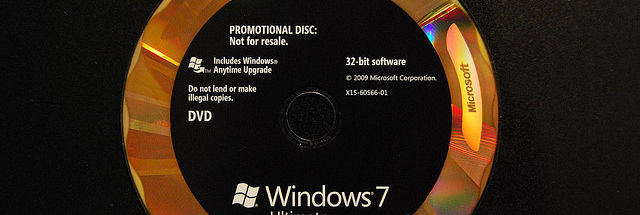 windows 7 ultimate promotional disc
