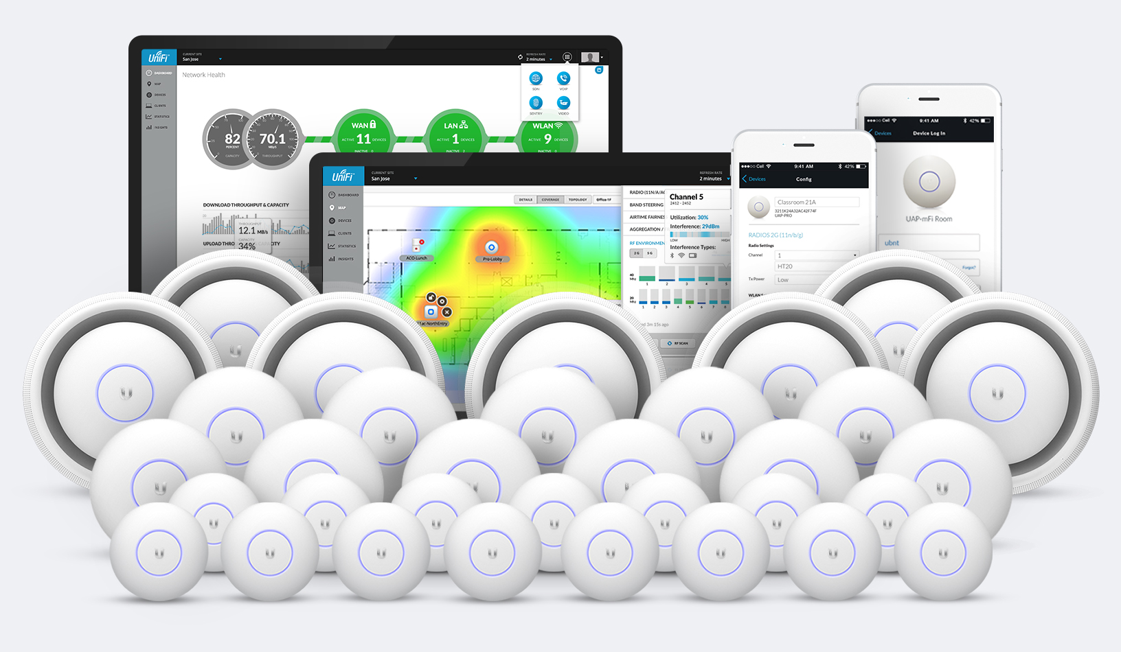 Enlarge / The whole line-up of upcoming UniFi wireless networking gear ...
