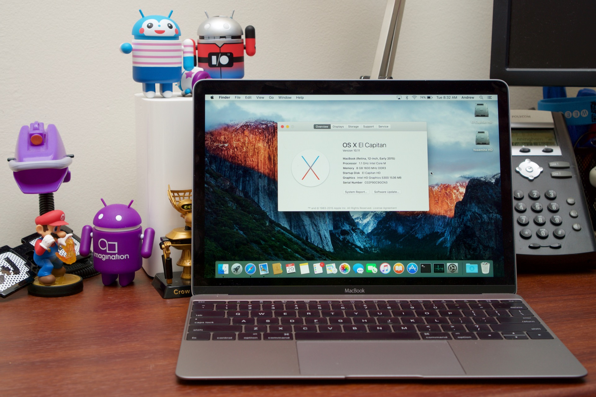 El Capitan on the 2015 MacBook.