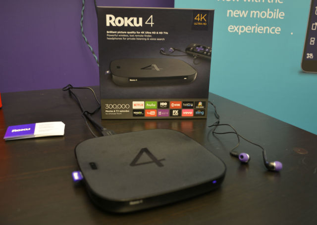 The Roku 4 set top box is capable of streaming 4K content at up to 60 fps.