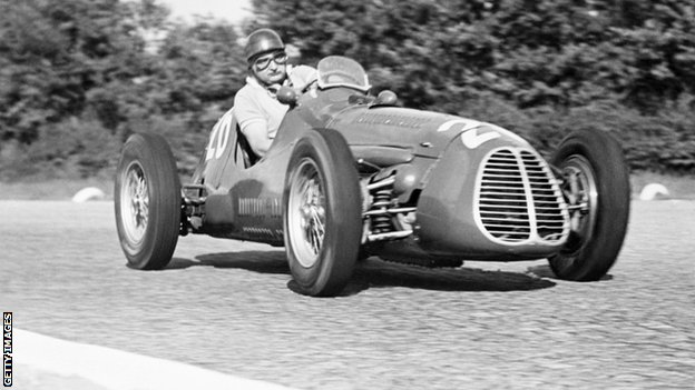"José Froilán González was ""El Cabezón,"" or ""fat head"" to his friends. And like the great Juan Manuel Fangio, Gonzalez was of a generation of drivers who were, by modern standards, not so trim and fit but talented beyond measure. They all worked their driving mastery on tyres too thin for a modern sedan.<br />"