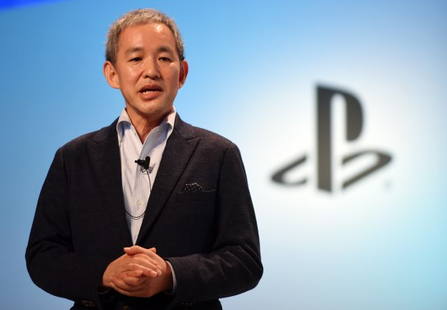 President of Sony Computer Entertainment Japan Asia (SCEJA) Atsushi Morita speaks during a press conference in Tokyo on September 15, 2015.