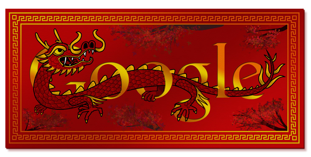 Google's doodle for the Chinese Year of the Dragon.