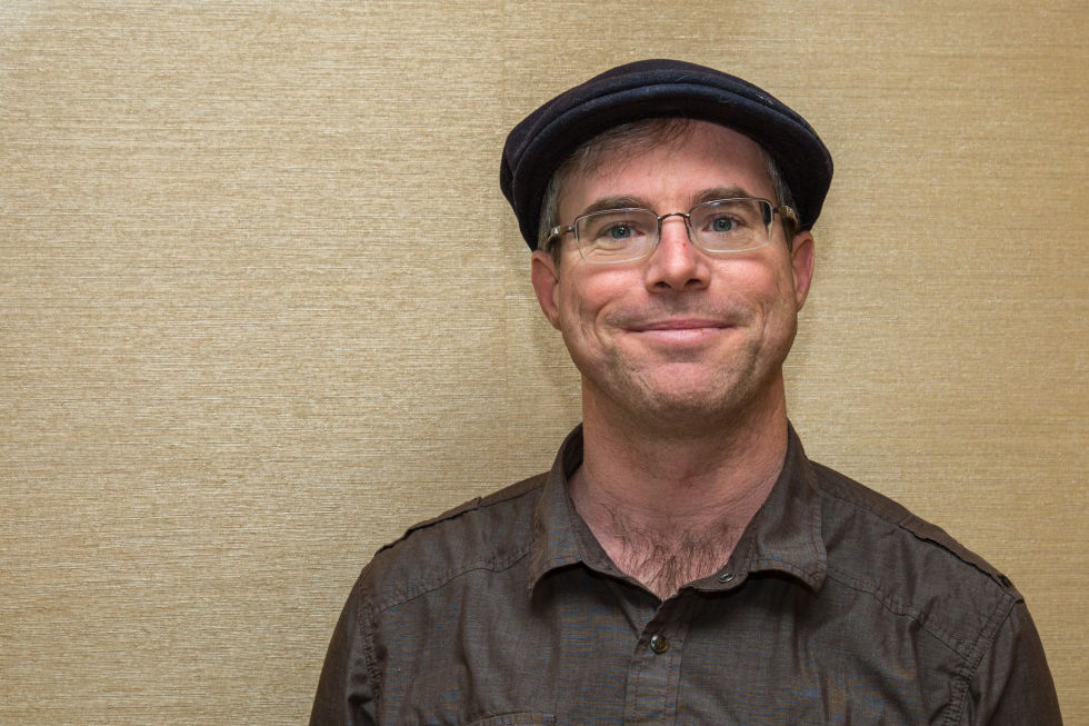 Author Andy Weir and hat.