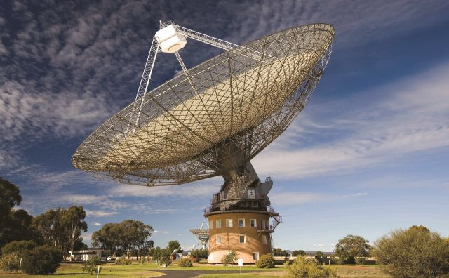 The Parkes radio telescope, used in these observations.