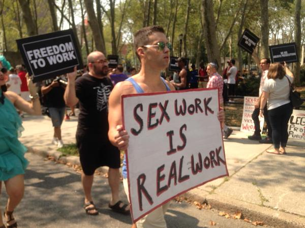 Protest yesterday objecting to federal raid against Rentboy.com. Photo by Jim Epstein of Reason.com.