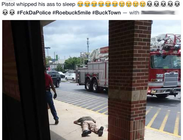 A Facebook posting following Birmingham officer's beating.