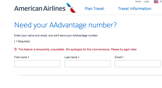 American Airlines' information systems outage is affecting its website as well as flights.