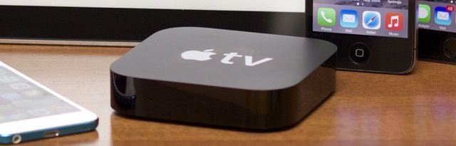 This is still the old Apple TV, but the new one will probably look pretty similar, we'd wager...