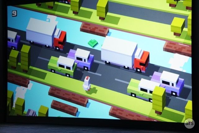 A new multiplayer version of <i>Crossy Road</i> may not be a killer app for Apple TV, but it's a nice addition for sure.