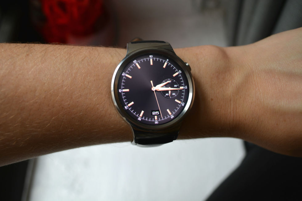 Huawei's first Android Wear watch.