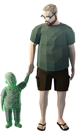 Joel and Ryan Green, as represented in the video game about their lives.