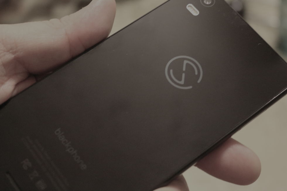 The back of the Blackphone 2, Silent CIrcle's latest take on the privacy-focused smartphone.