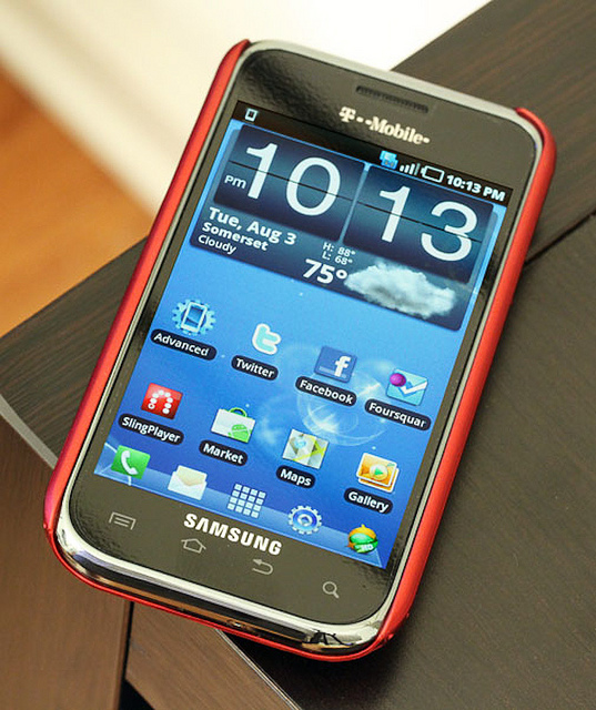 The Samsung Vibrant is one of five phones, circa 2010, that are at issue in what will be the fourth Apple v. Samsung jury trial.