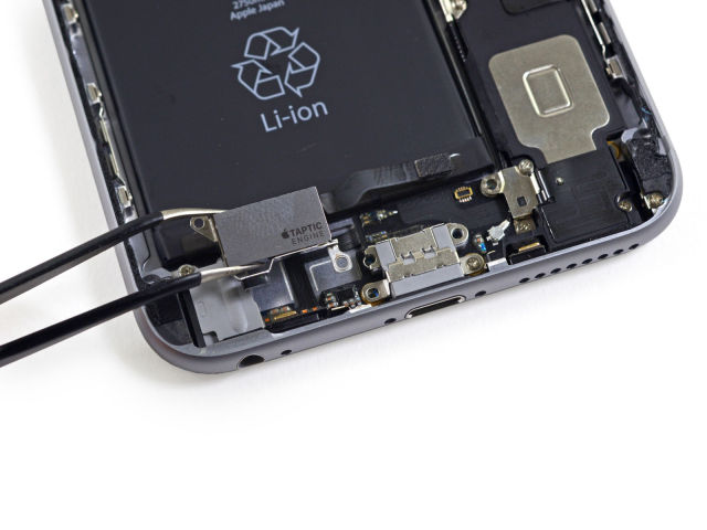 Removing the Taptic Engine from the 6 Plus. It's part of the reason for the reduced battery capacity.