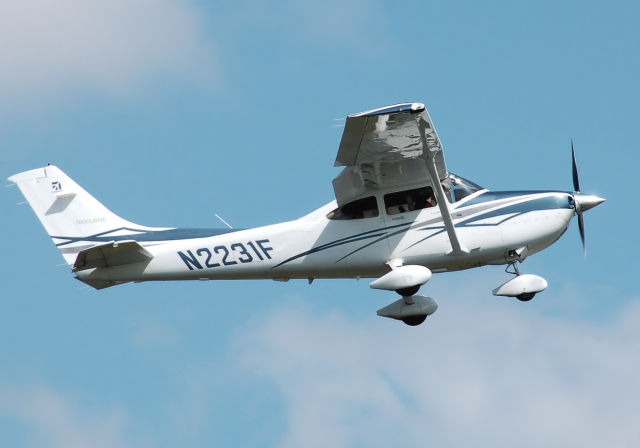The FBI flew a Cessna 182T, similar to this plane, and another aircraft over Baltimore for over 36 hours following the riots in the city, gathering video and other electronic intelligence, according to records obtained by the ACLU through a FOIA request.